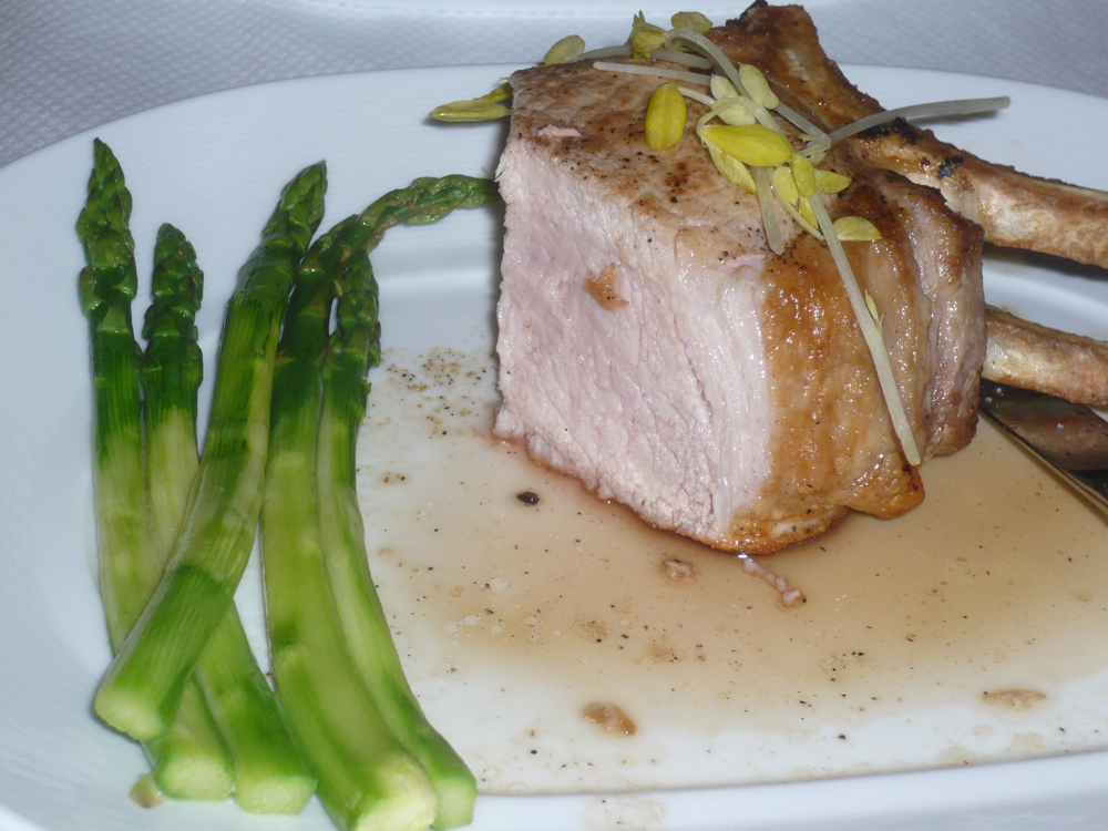 Double cut pork chop from Trump room service (click to enlarge)