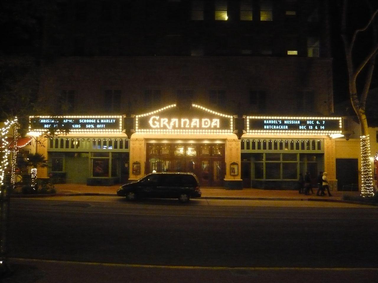 Granada theater Santa Barbara Dec 4, 2008 (click to enlarge)
