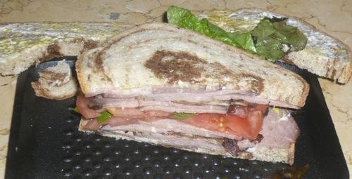 Sandwich with half bread  Dec 6, 2008
