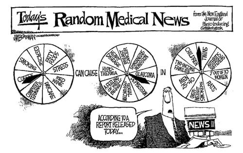 Cartoon on observational studies