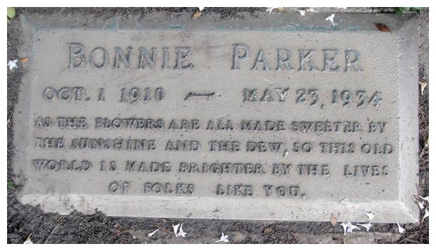 Bonnie's grave