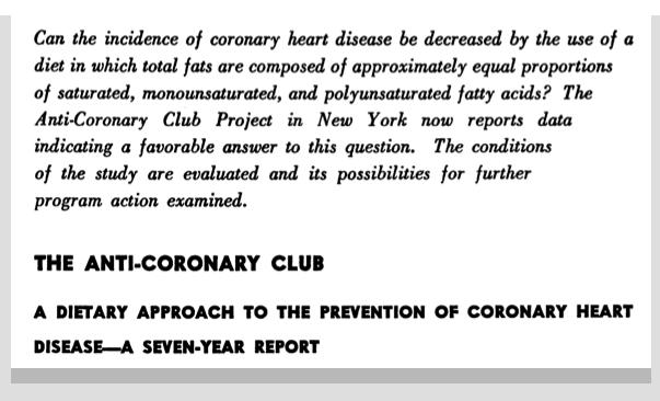 The Anti-Coronary Club