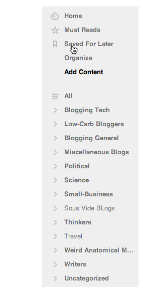 Feedly blogs