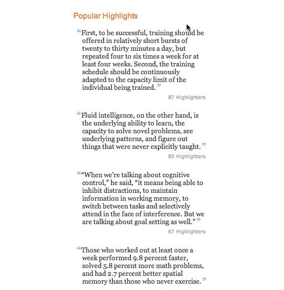 Kindle highlights Smarter